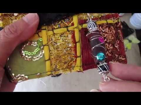 33f338a5c7a93 vintage Boho junk journal with boho bead charm - YouTube