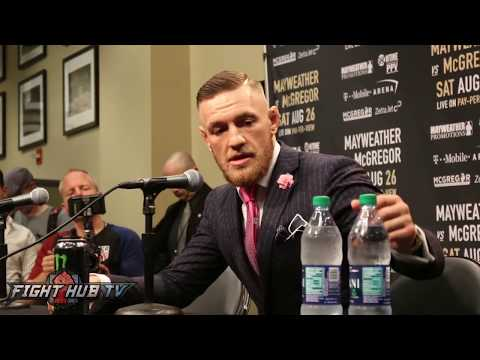 MUST WATCH! Conor McGregor vs Mayweather Sr Fight At Media Presser