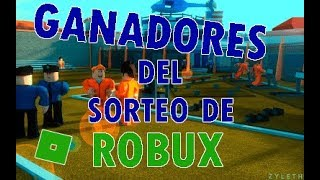 GIVING ROBUX'S SWEEPSTAKE WINNERS! Roblox Winners Sweepstakes