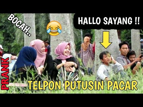 ANAK KECIL..!! TELPONAN DIPUTUSIN PACAR DISAMPING ORANG    Prank Indonesia