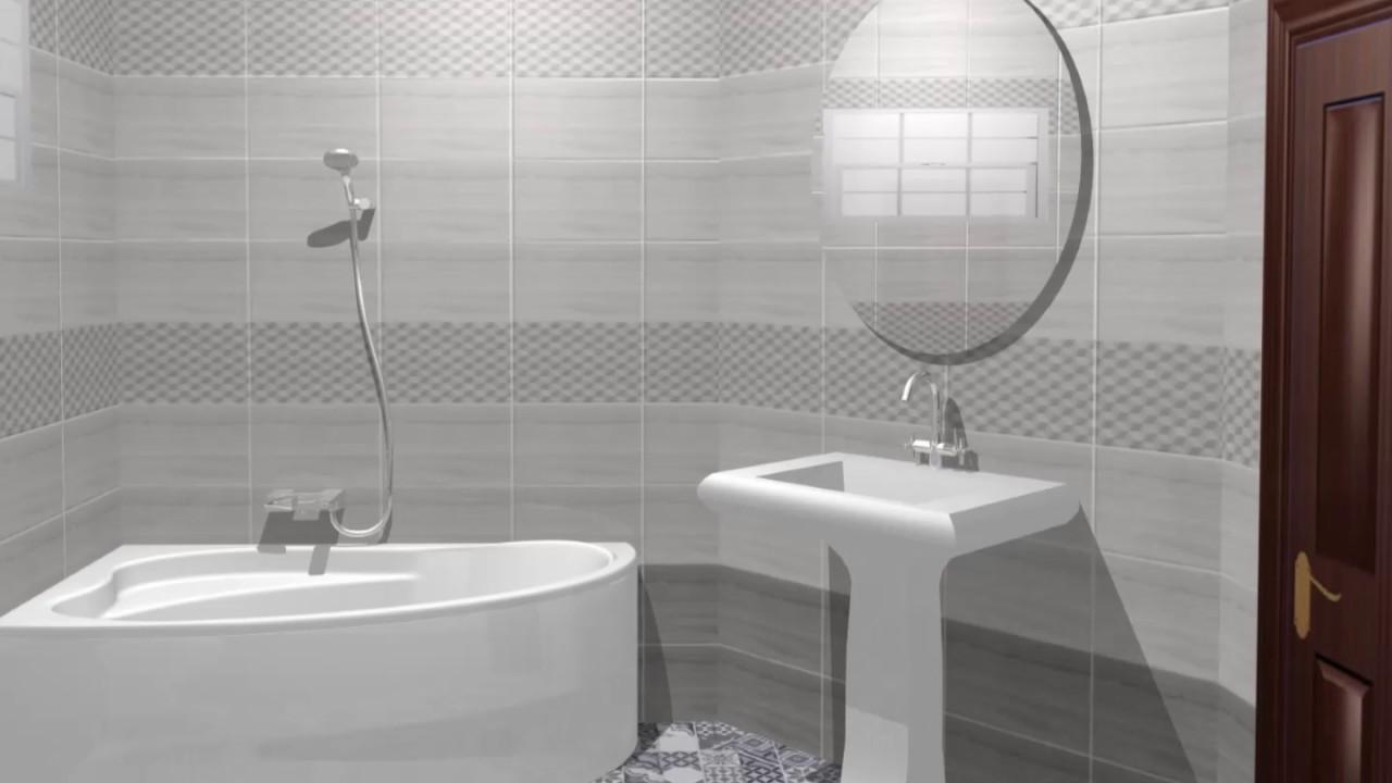 Design 3d baie colectia de gresie si faianta santorini for Modele gresie si faianta baie