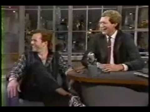Bruce Willis promoting Moonlighting on Late Show with David Letterman 1985