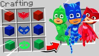 Minecraft : HOW TO CRAFT THE PJ MASKS! (Ps3Xbox360PS4XboxOnePEMCPE)