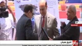 بالفيديو..الفريق مميش يرفع العلم المصري على سفينة الخدمات البترولية