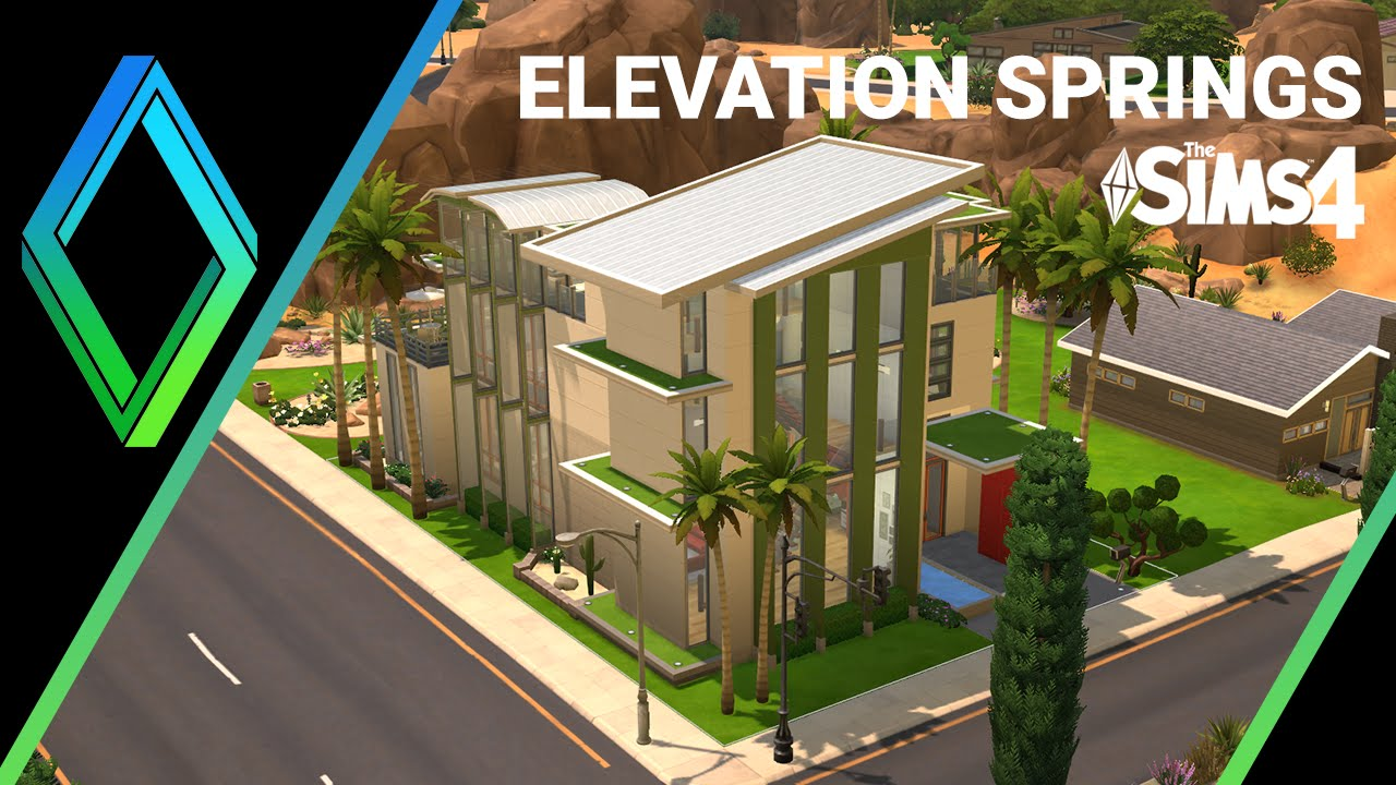 Curtisparadislive sims 4 building starter home part 1 youtube - The Sims 4 House Building Elevation Springs