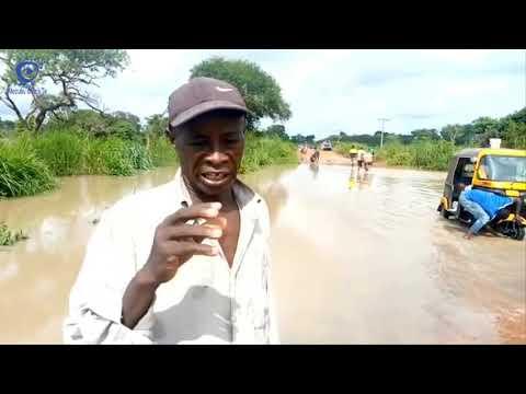 Water flooding on Atebubu -  Kumfia Road (26-08-21)