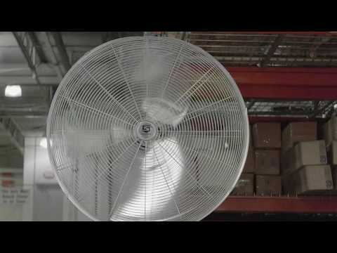 Central Machinery 30 In Pedestal Shop Fan Unboxing Rev
