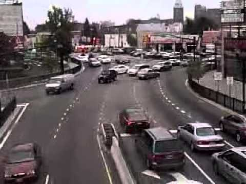 View of Kennedy Blvd from a pedestrian bridge at 32nd st in Union City / North Bergen, NJ