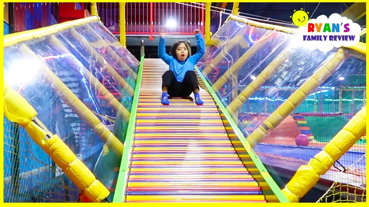 Indoor Playground Fun For Kids With Giant Slides