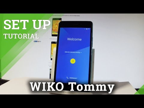First Configuration in WIKO Tommy - Step by Step Activation Instructions