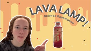 LAVA LAMPS at HOME using OIL AND WATER??