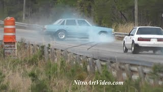 Wild Ride Fast 4 Door Malibu Coupe Drag Racing Grudge Racing Action Outlaw Track at Shut Up & Race