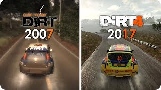DiRT PC Graphics Evolution - from Colin McRae DiRT 1 to  DiRT 4 - PC Ultra Settings
