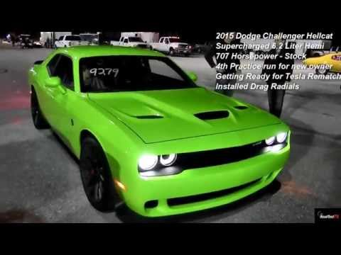 Hellcat Owner Ready for Tesla ReMatch !!! Runs 11.15 on Drag Radials - Road Test TV ®