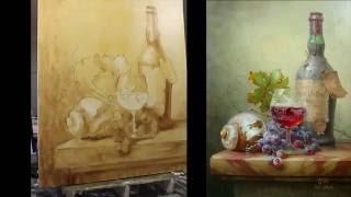 Пишем натюрморт Toth Gabor. Часть 1,2. Живопись маслом.
