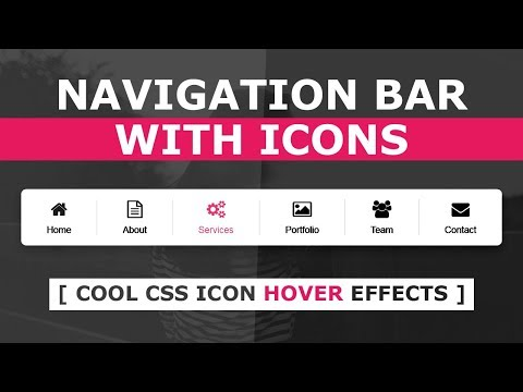 How To Create Navigation Bar With Icon Using Html And CSS  - CSS Horizontal Menu Bar With Icons