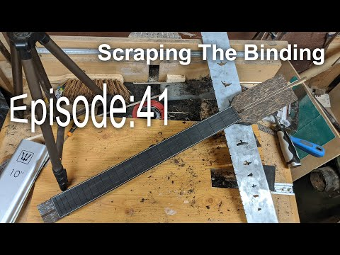 Guitar Shed Diary 41: Finishing And Scraping The Fretboard Binding