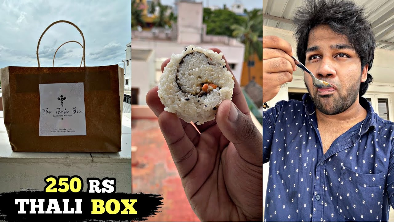 250 RS NORTH INDIAN MEALS   THE THALI BOX KILPAUK #Shorts #68 Homemade Veg Sushi ⚠️ MUST TRY ⚠️