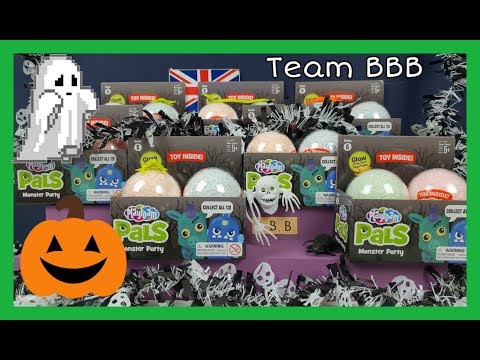 HALLOWEEN 1! PLAYFOAM PALS, MONSTER PARTY! Play Foam mystery creepy spooky collectible toys #AD