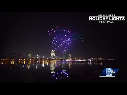200 drones light up sky for Milwaukee Holiday Lights Festival