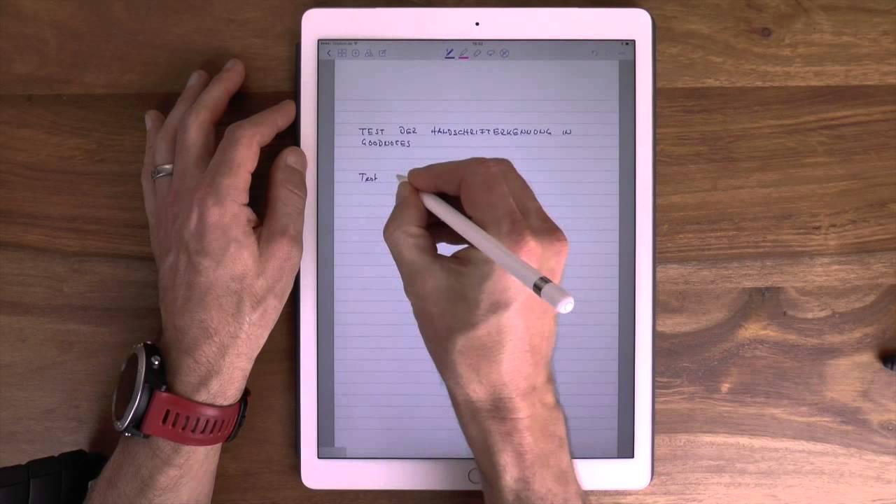 Ipad Handschrifterkennung