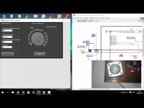 Stepper motor direction control in labview the engineering projects.