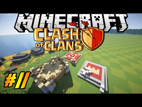 Clash Of Clans In Minecraft | Making Of #11 | Barbarian King, Archer Queen, Spell Factory