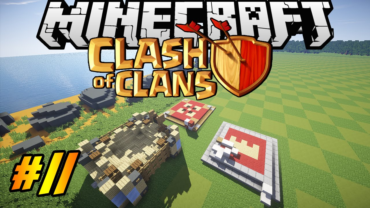 Clash Of Clans In Minecraft Making Of  Barbarian King Archer Queen Spell Factory Youtube