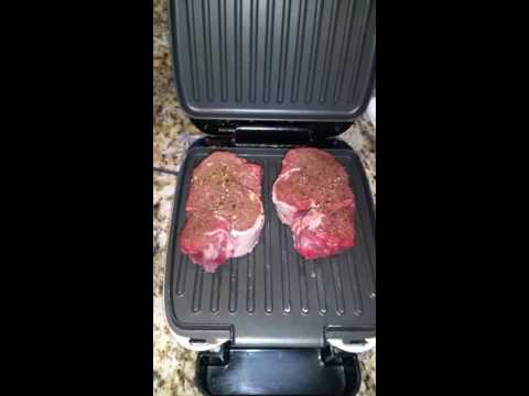 Cooking Filet Mignon Tenderloin in George Forman Grill Chef Eddy Shipek