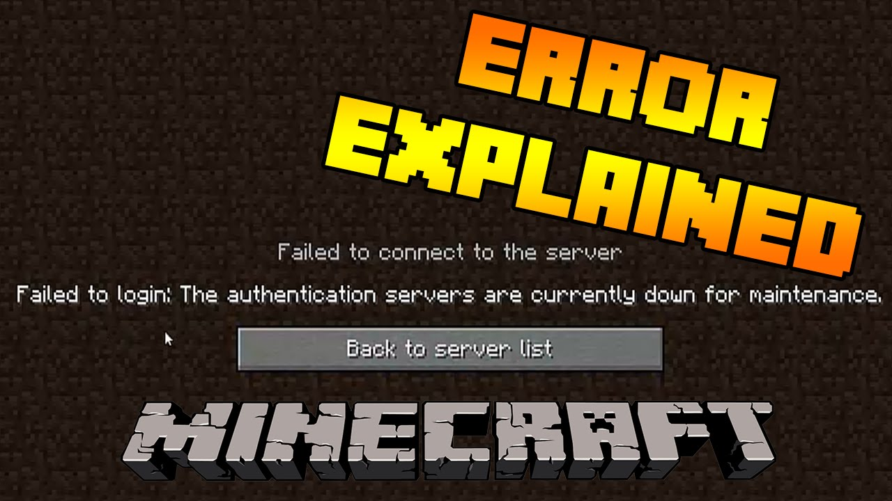 Failed to login: The authentication servers are currently down for