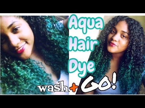 Adore Aqua Hair Dye! + Curly Hair Wash & Go!