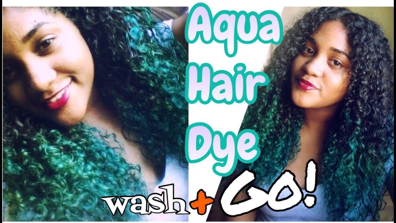 Adore Aqua Hair Dye Curly Hair Wash Amp Go YouTube