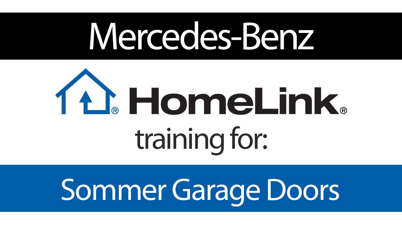 Homelink training for sommer door openers mercedes benz for Mercedes benz homelink