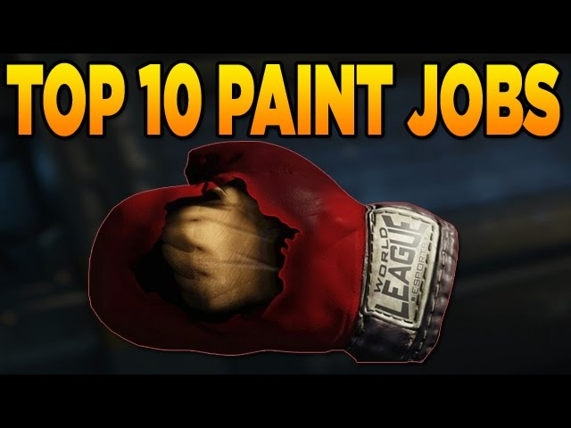 Top 10 Paint Jobs in Black Ops 3 (Prizefighter Melee Weapon Camos)