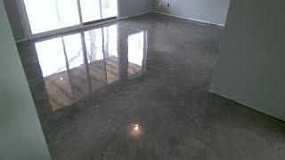 Decorative Concrete Basement Floor Osage Beach, MO Acid Stained w/ Epoxy Finish