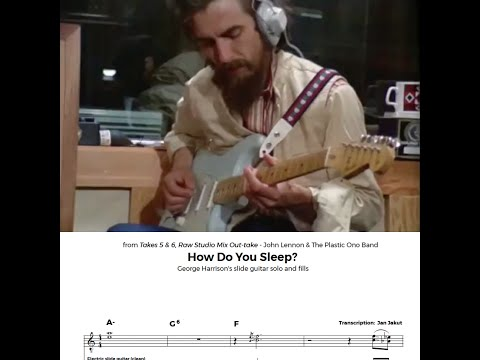 Chord Yoga: How Do You Sleep? - George Harrison slide guitar