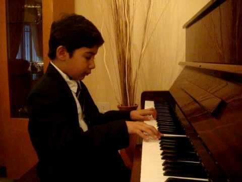 9 Years Ribal play Leopold Mozart Menuet on Piano - Minuet ...