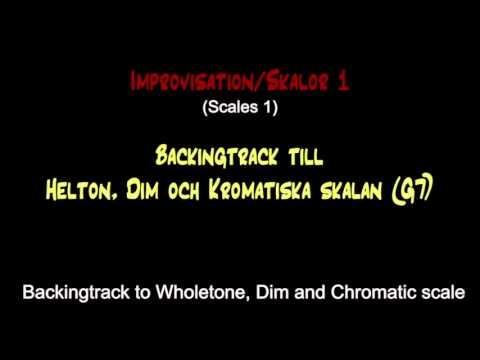 Backing track / wholetone, dim and chromatic scale
