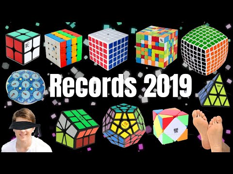 ALL RUBIK'S CUBE WORLD RECORDS 2019 | Speedcubing WCA WRs