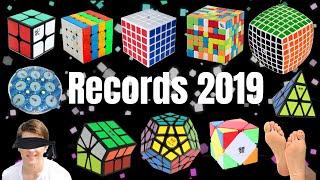 TODOS los Récords Mundiales del CUBO de RUBIK 2019 | WRs Speedcubing WCA
