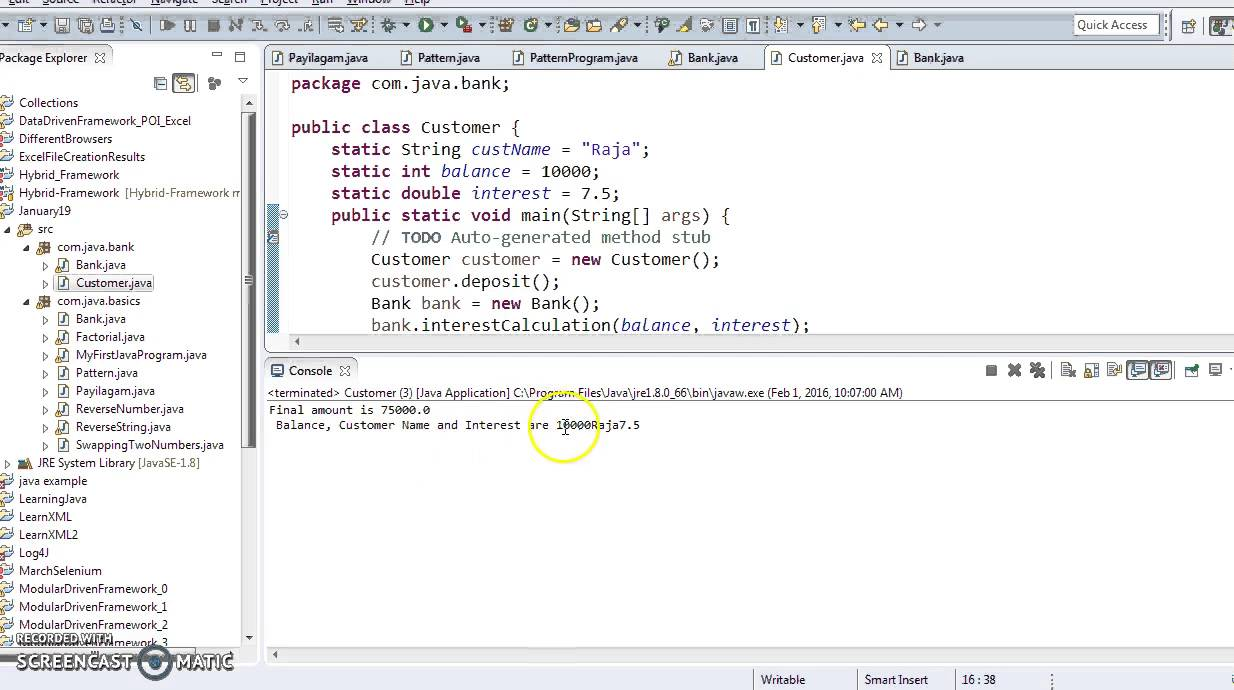 Java in Tamil - Passing Objects As Parameters to methods