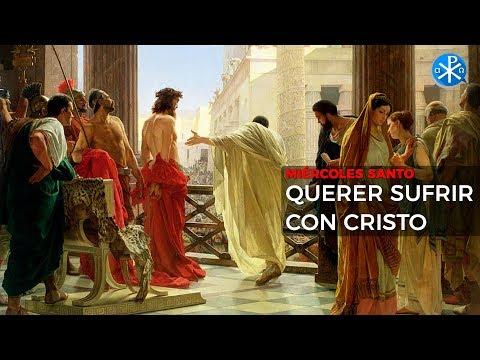 Querer sufrir con Cristo - Meditación Miércoles Santo -