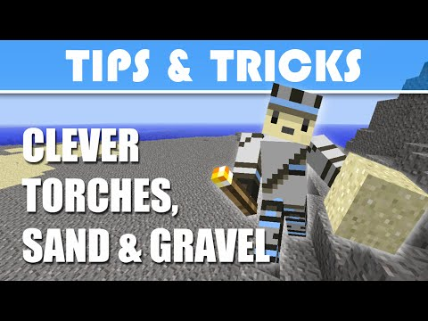 Minecraft Tips & Tricks - Clever Torches, Sand and Gravel