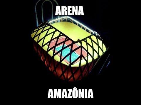 Arena da Amazônia - Construção da Maquete do Estádio Sede da Copa do Mundo em Manaus Brasil