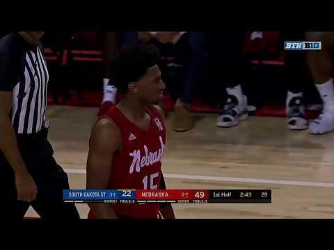 First Half Highlights: South Dakota State at Nebraska | B1G Basketball