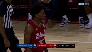 First Half Highlights: South Dakota State at Nebraska | B1G Basketball