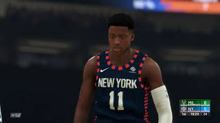 For tonight's grudge match giannis antetokounmpo and the milwaukee bucks are at madison square garden in new york city, taking on julius randle ...