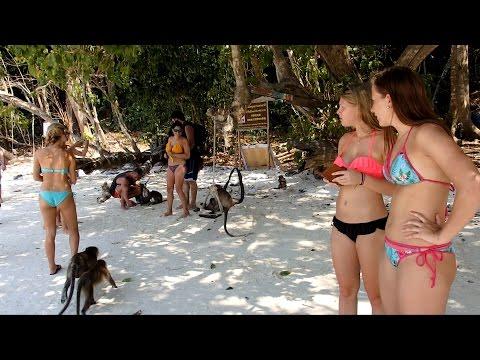 Monkey Beach Phi Phi Island Thailand March 2016
