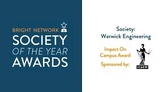 Warwick Engineering Society - Bright Network Impact on Campus Award