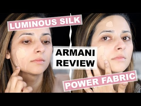 GIORGIO ARMANI FOUNDATION REVIEW + DEMO  Luminous Silk vs Power Fabric  Ysis Lorenna
